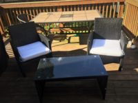 best choice products black wicker patio set