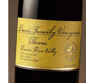Davis Family Vineyards 2017 'Throne' Rhone Blend, Russian River Valley