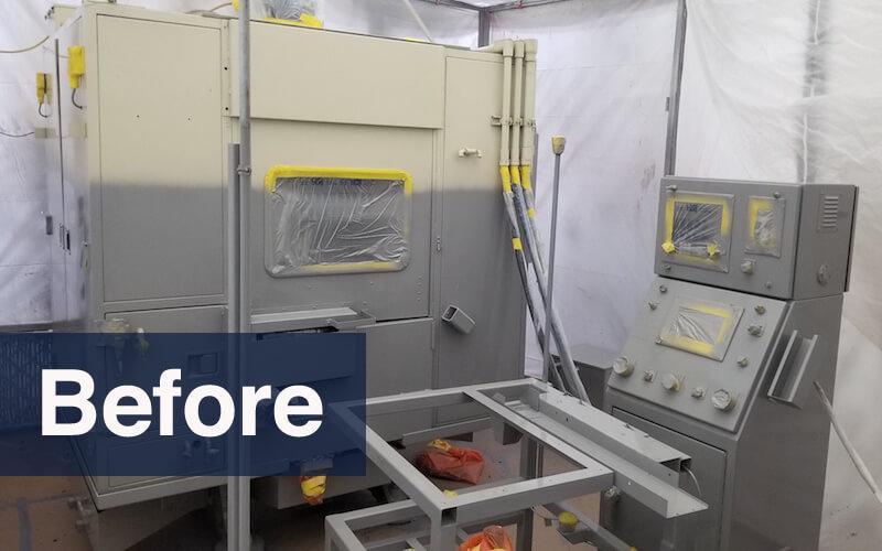 industrial machine refinishing