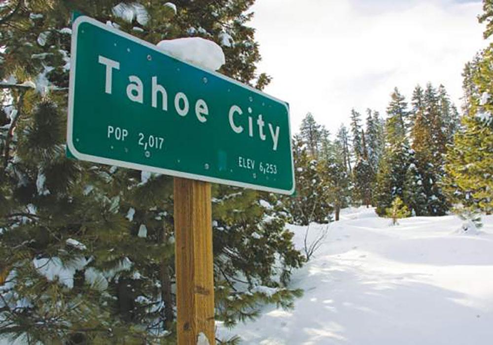 TahoeCitySignWinter