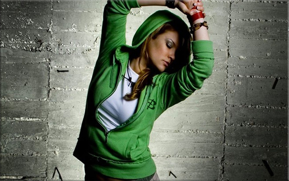 Green Hoodie for slider
