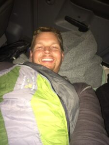 Sleeping in Truck