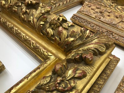 Ornate Carved 22k frames