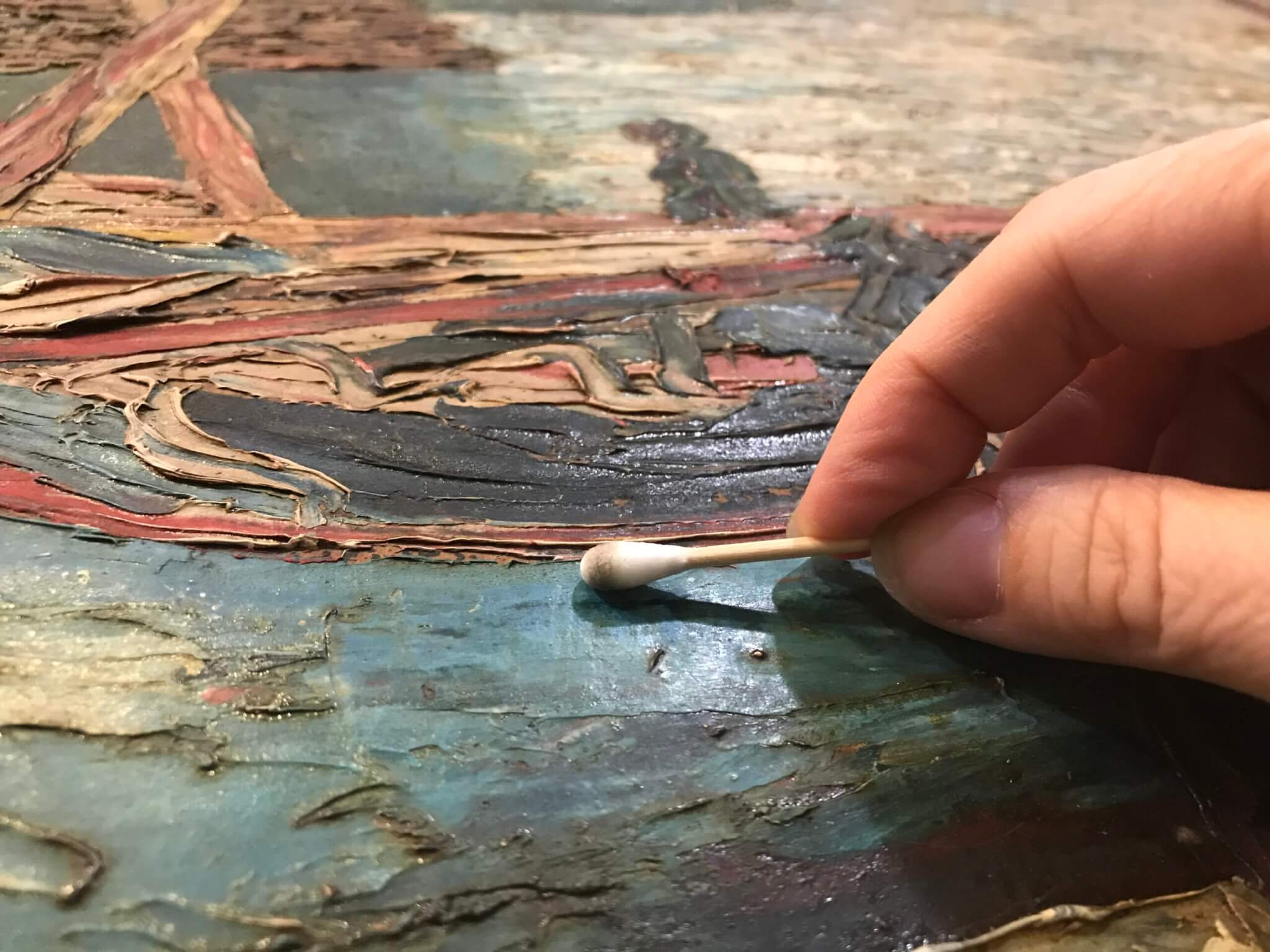 Conservation and restoration of oil paintings, acrylic, tempera, egg tempera, gouache, watercolor
