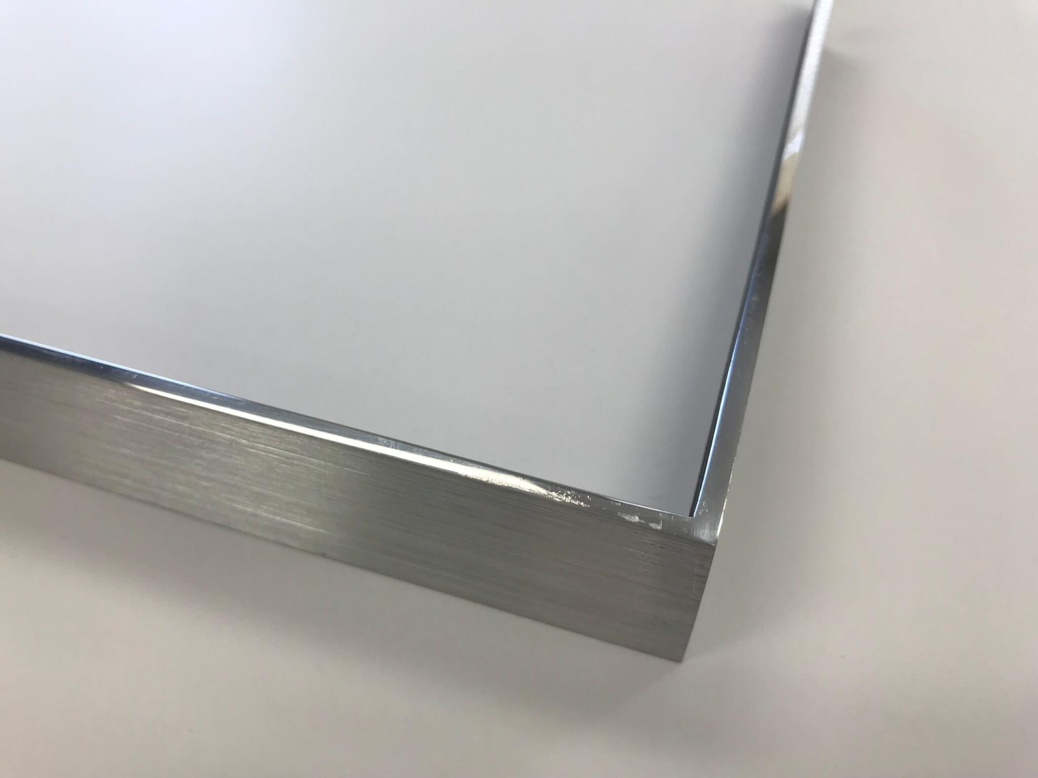 Polished Welded Aluminum Frame with Brushed Sides Narrow profile