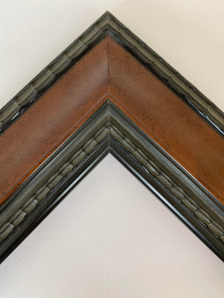 Brown and Black rippled molding, 1.5 inch wide Artifact Services Artmill Group Custom Framing