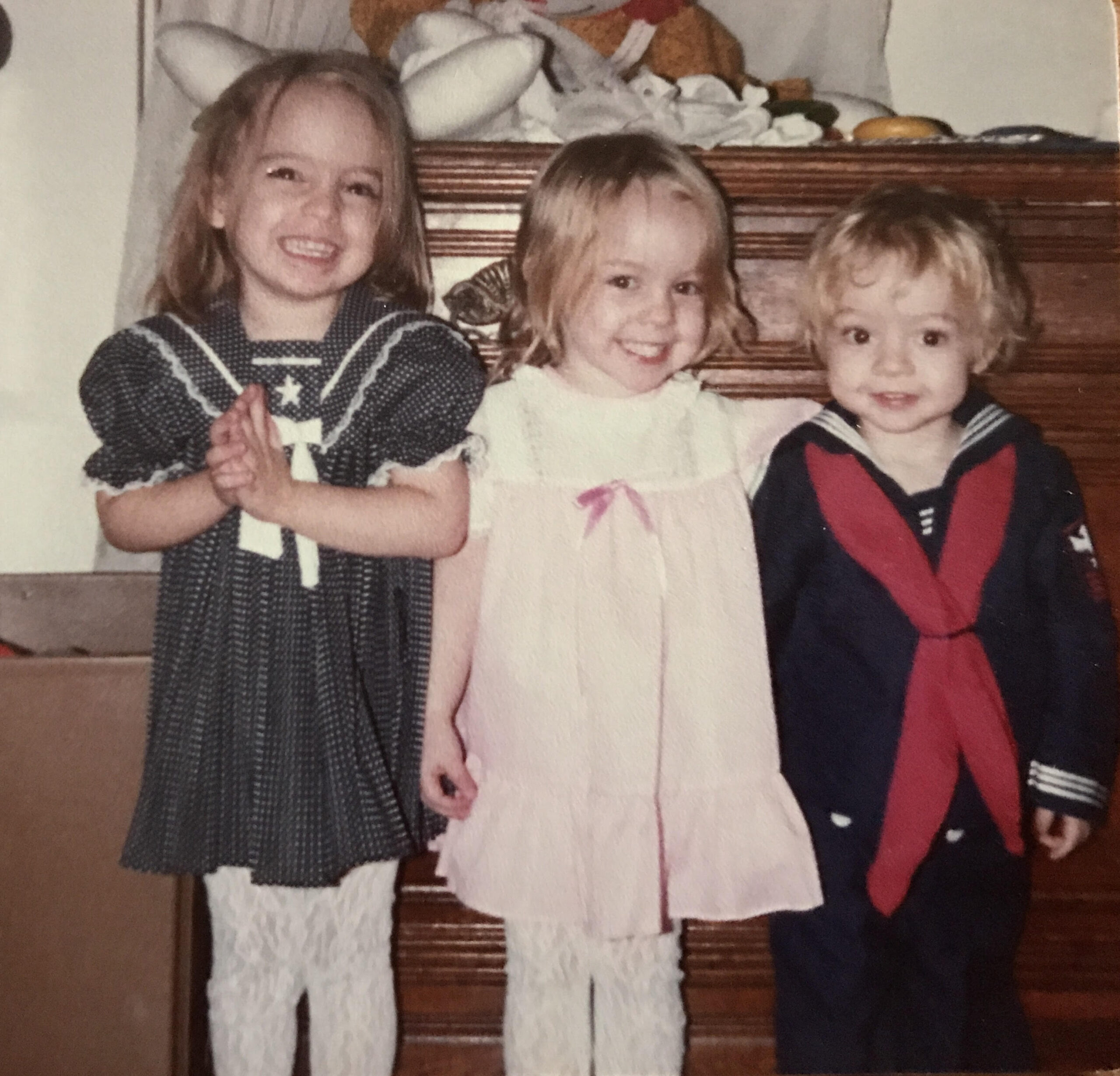 April Hann Lanford, center with her twin sister and little brother, grew up in a collecting family