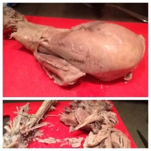 shred the turkey