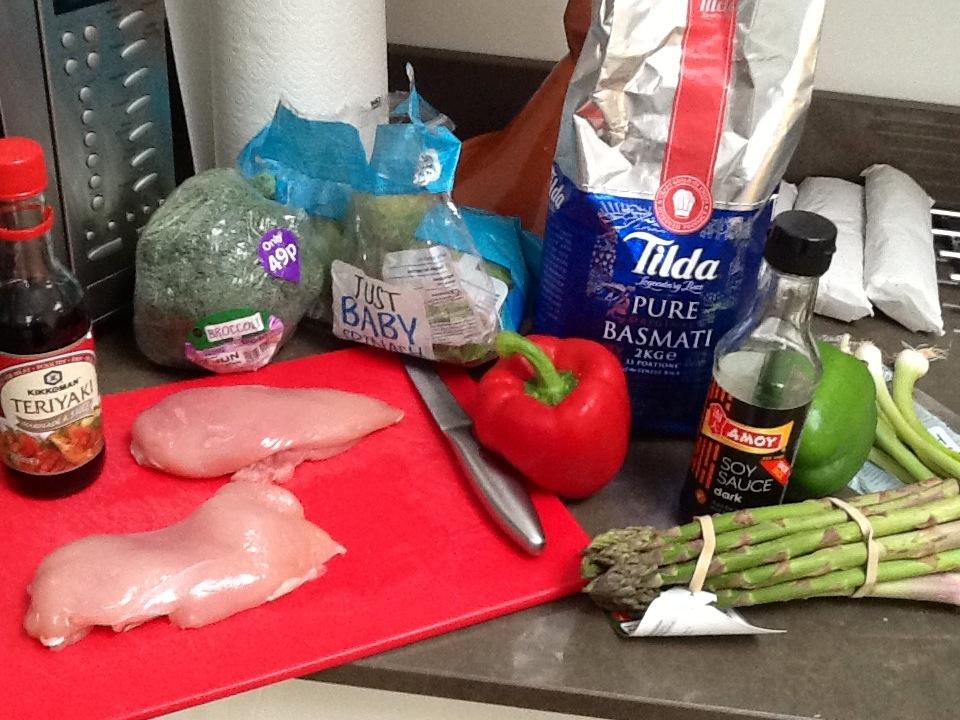 Chicken Teriyaki With Rice & Veggies