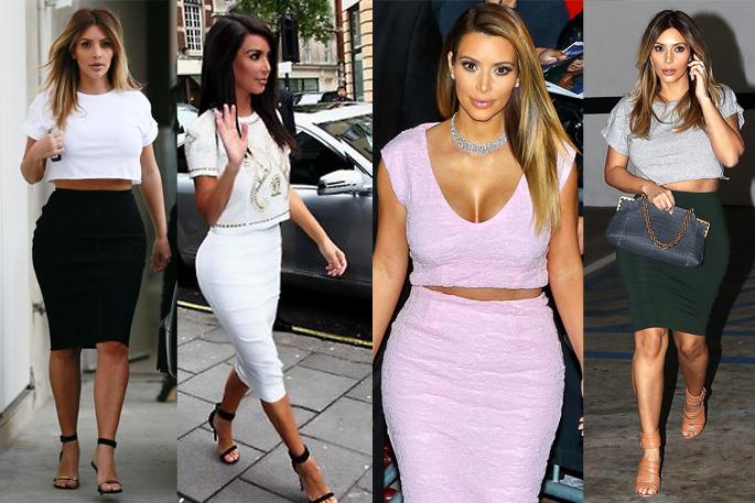 Kim Kardashian's Look for Less