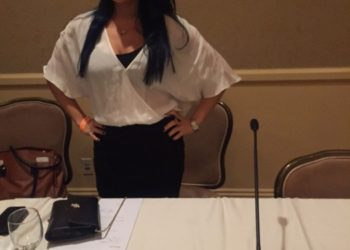 Sali getting ready to speak