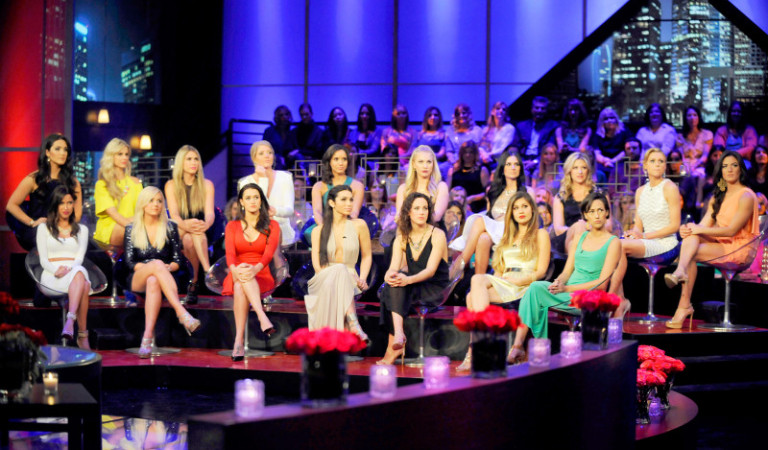 The ladies look on as they air their grievances on this Bachelor Special.
