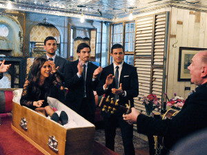 Kaitlyn rises from the dead in Dublin during her fake wake on last night's group date