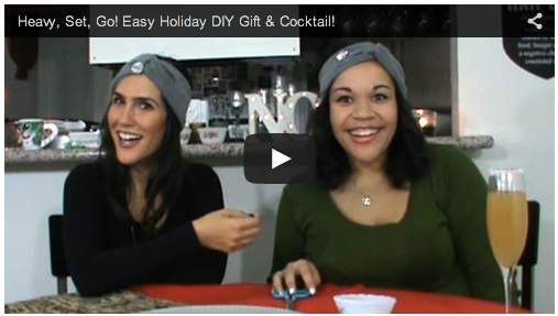 Easy DIY Holiday Gift & Cocktail Idea