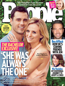 Ben and Lauren B. on the cover of People Magazine this week. I don't know who's face that is, but it looks like she has Amy Adam's retoucher.