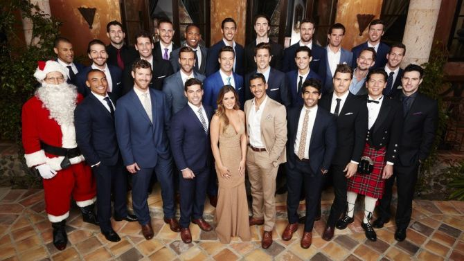 The guys and Santa get ready for a new season of The Bachelorette