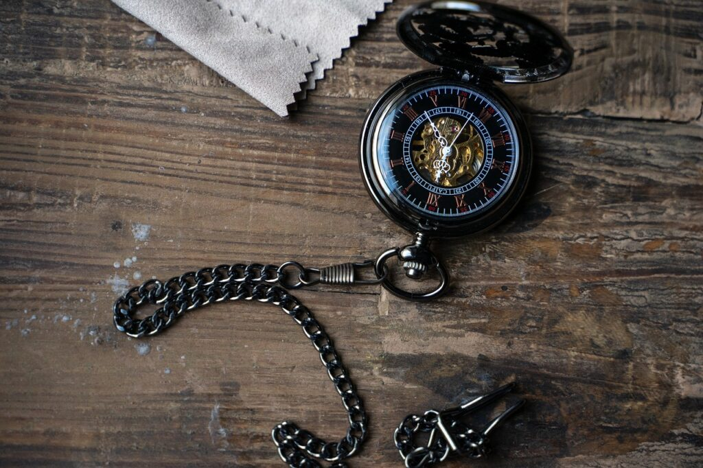 pocket watch, clock, time of
