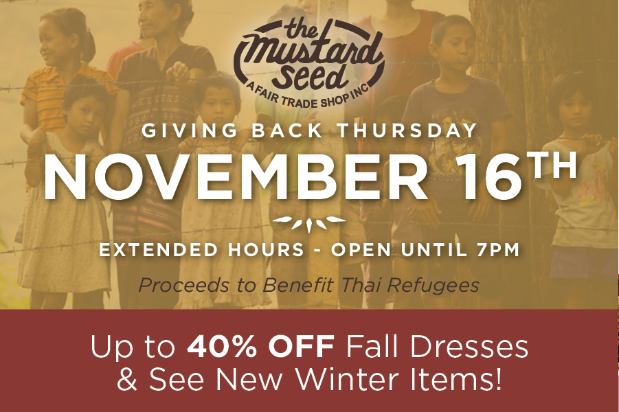 Give Back Shopping Event – November 16