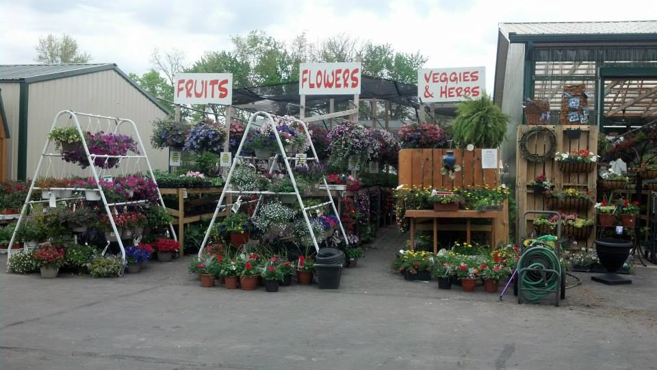 flower display front of store