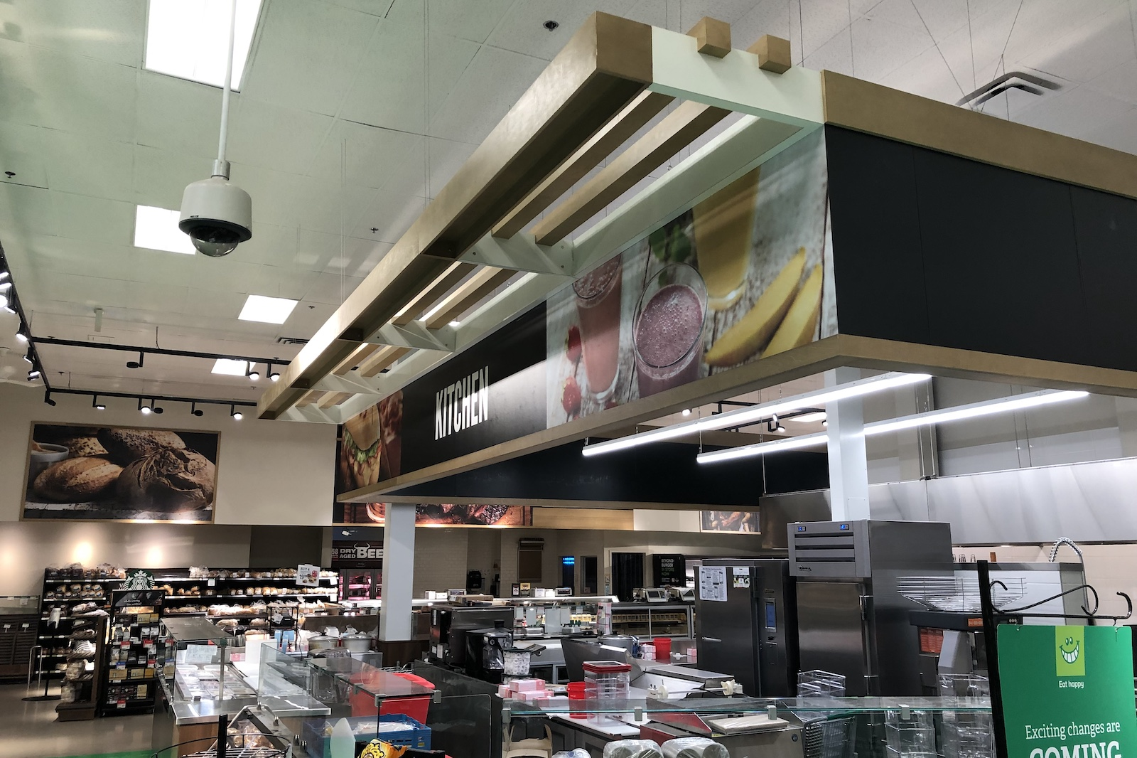Completed Commercial Tenant Improvement project by Outline Millwork for Thrifty's Foods Broadmead Burnaby, BC featuring custom commercial millwork, custom cabinetry & woodworking.