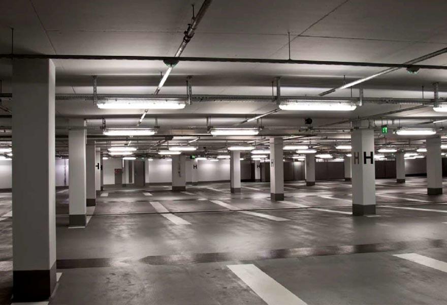 OKC area Parking Garage Facility Pressure Washing