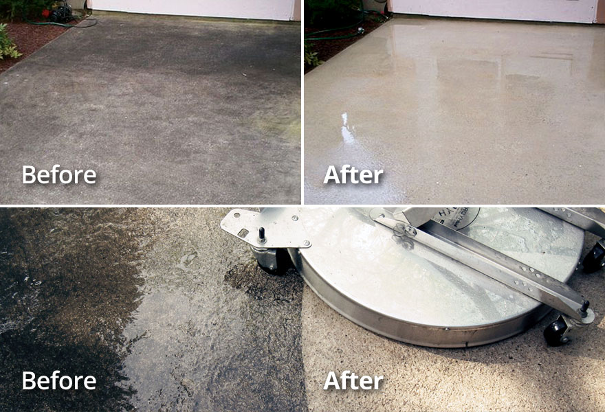 OKC area Concete Driveway, Patio, Pool Deck Pressure Washing