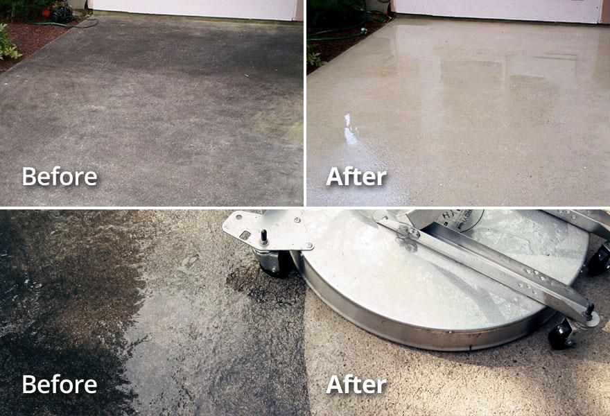 OKC area Concete Driveway, Patio, Pool Deck Pressure Washing