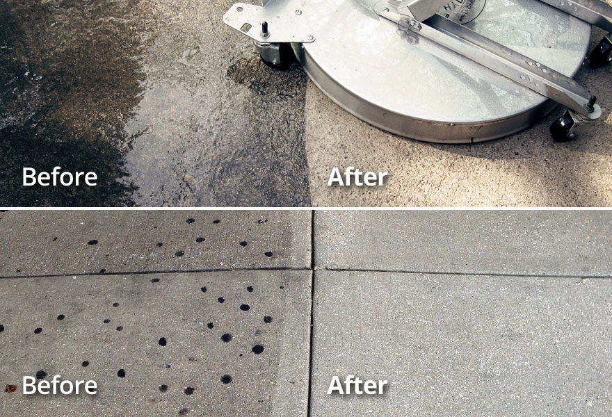 OKC area Commercial Concrete Pressure Washing Cleaning