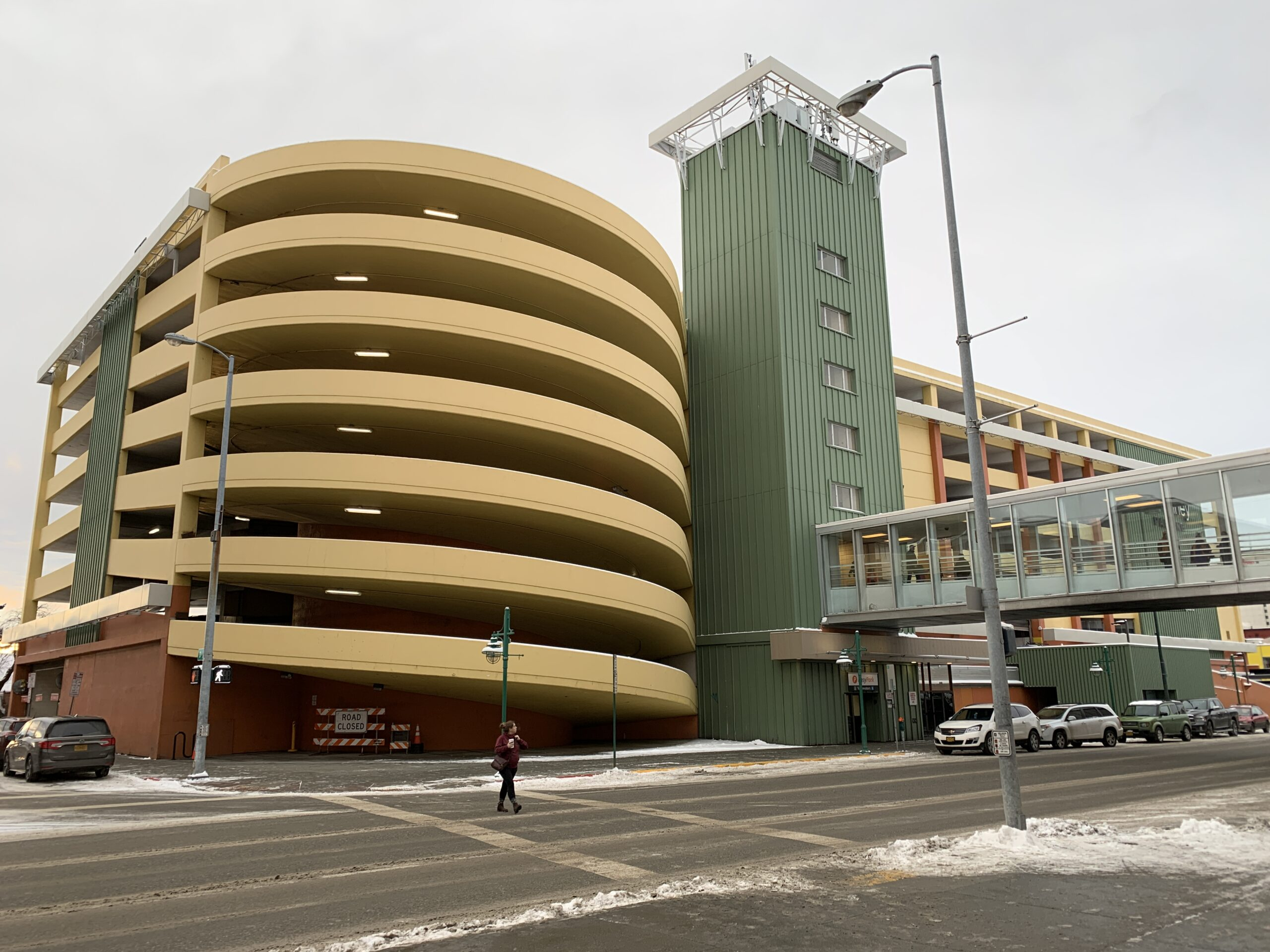 The JC Penney parking garage: An interim transit center we can use.