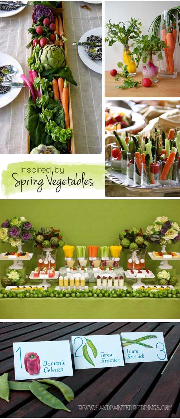 Spring Vegetables: Reception Ideas
