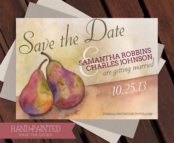 Perfect Seckel Pear Save-the-Date