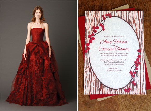 The Ultimate Dress for a Winter Berry Wedding