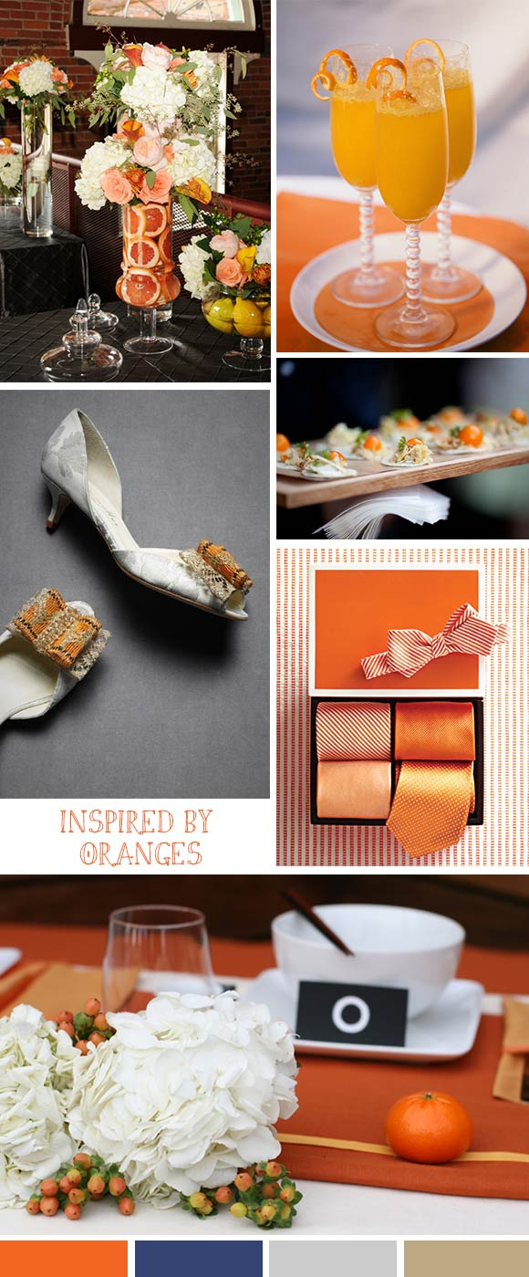 Hand-Painted Reception: Inspired by Oranges