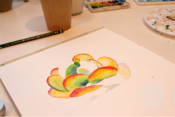 Commissioned Watercolor: Start to Finish