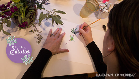 In the Studio: Painting my Bouquet from Lovesick Expo