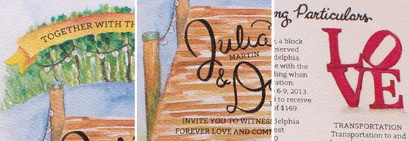 In the Studio: Julia and Dan's Invitations