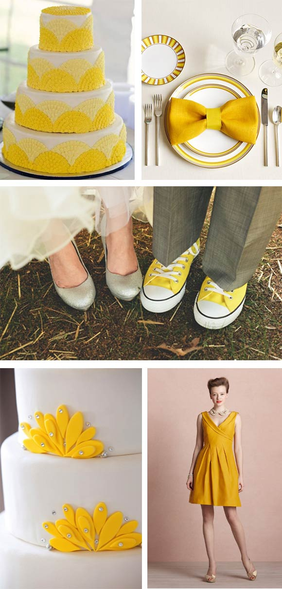 Hand-Painted Reception: Inspired by Lemons