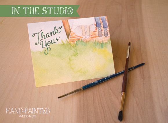 In the Studio: Julia and Dan's Thank You cards