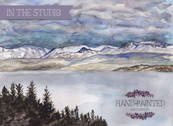 In the Studio: Snow Peaked Mountains
