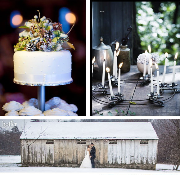 Hand-Painted Winter Frost Wedding Reception