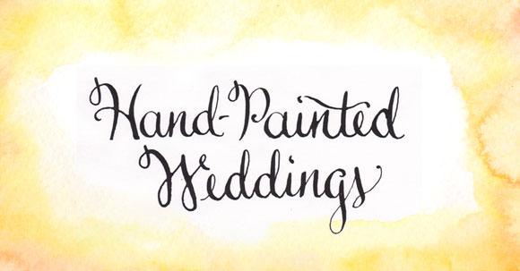 Hand-Painted Weddings calligraphy