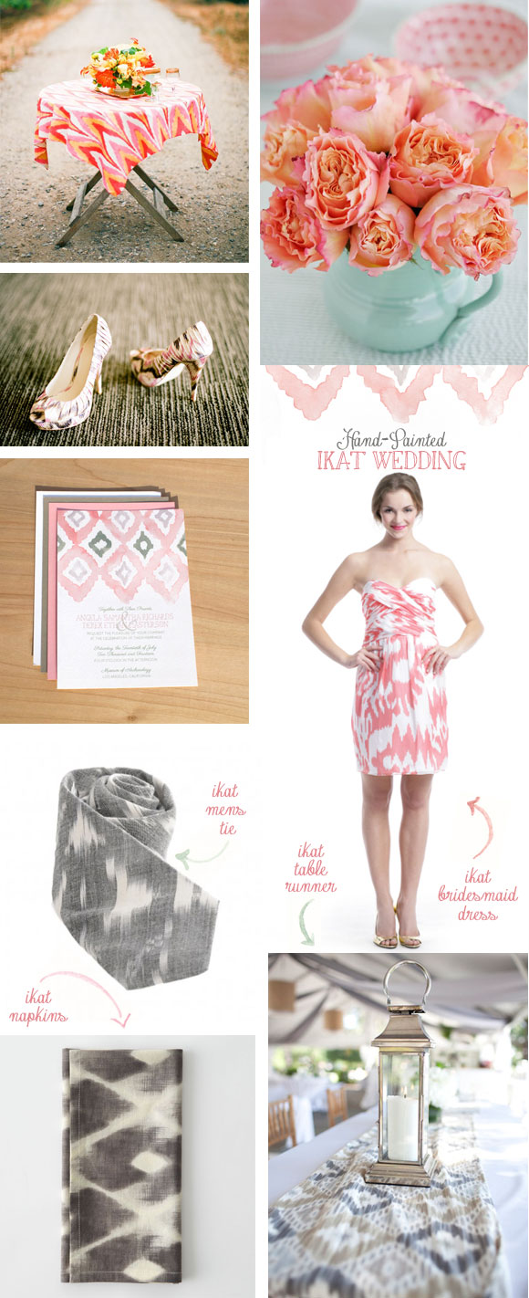 Hand-Painted Ikat Wedding