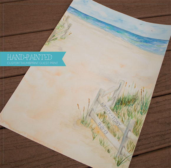 In the Studio: Custom Hand-Painted Thumbprint Guest print
