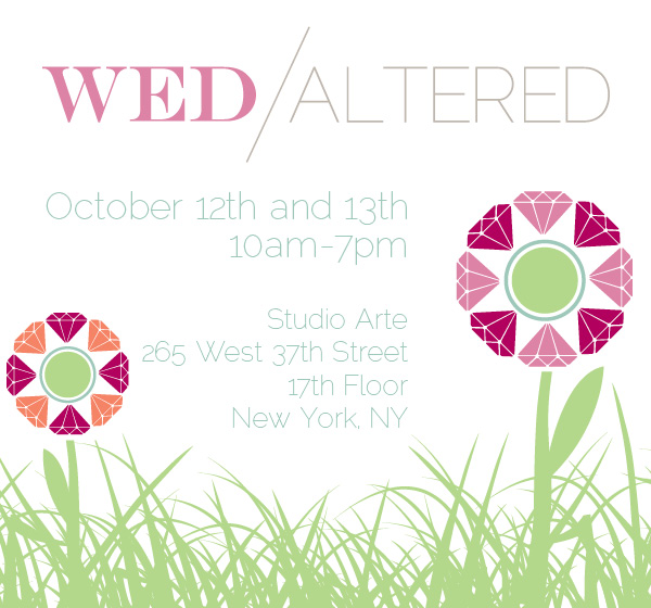 Hand-Painted Weddings at Wed Altered this weekend!