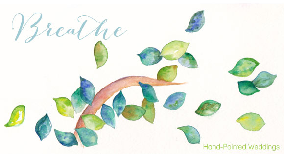 Breathe painting by Hand-Painted Weddings