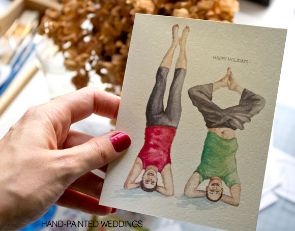 Personalized Holiday Cards Rock