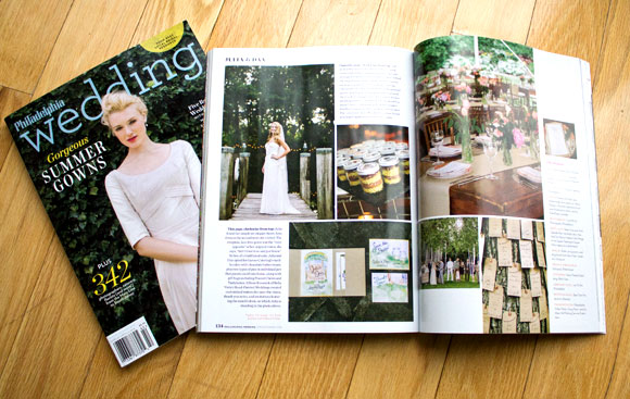 Hand-Painted Weddings in Philadelphia Wedding Magazine!