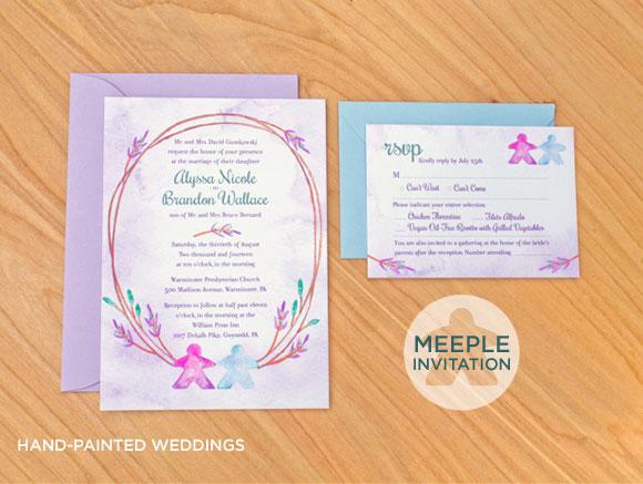 Board Game Themed Wedding Invitation