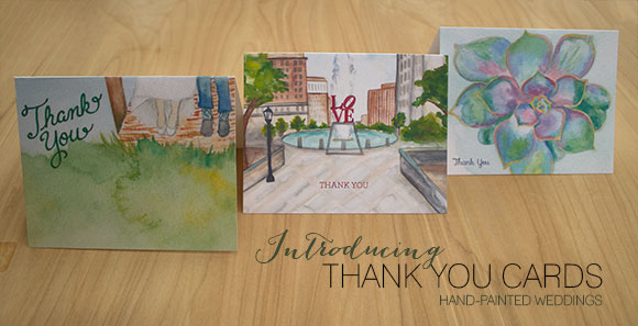 Introducing Hand-Painted Thank You Cards