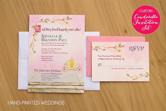 Vow Renewal Invitation set based on the Cinderella Invitation